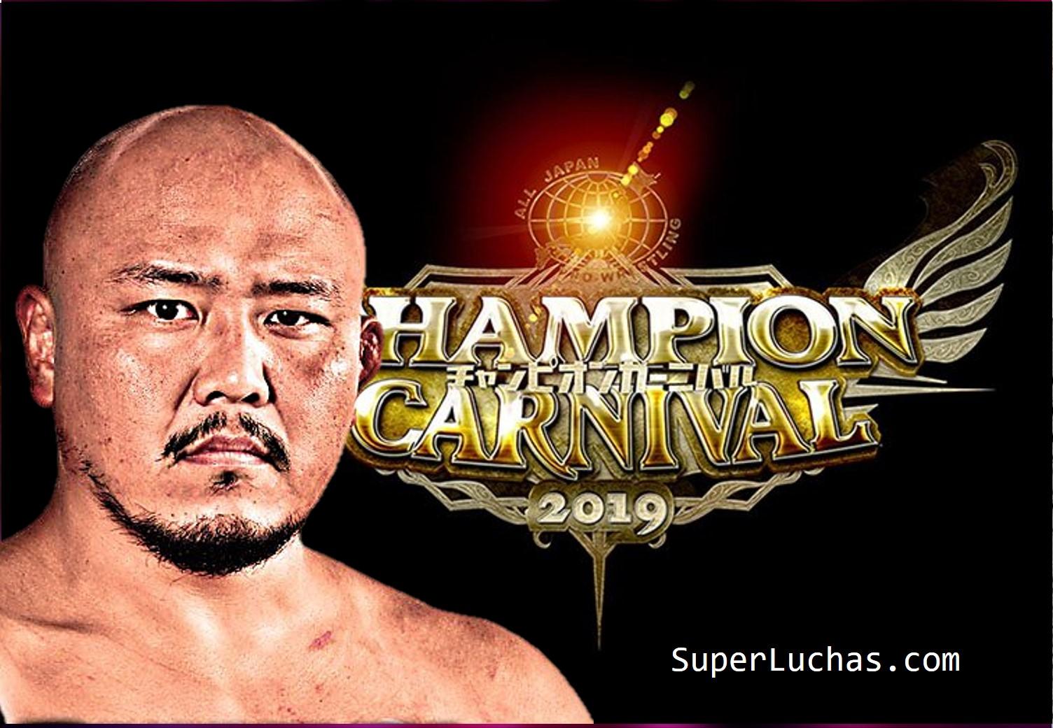 """AJPW: """"Champion Carnival 2019"""" Días 14 y 15 1"""