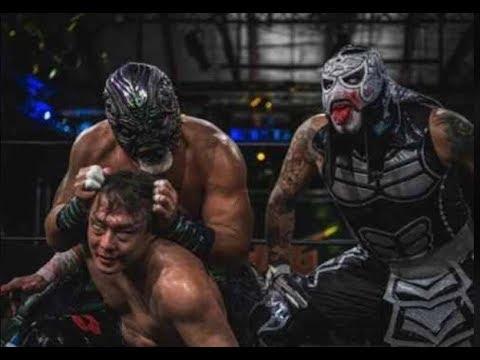Pentagon Jr, Tajiri and Great Muta vs LAX and Low Ki en Culture Clash 19 41