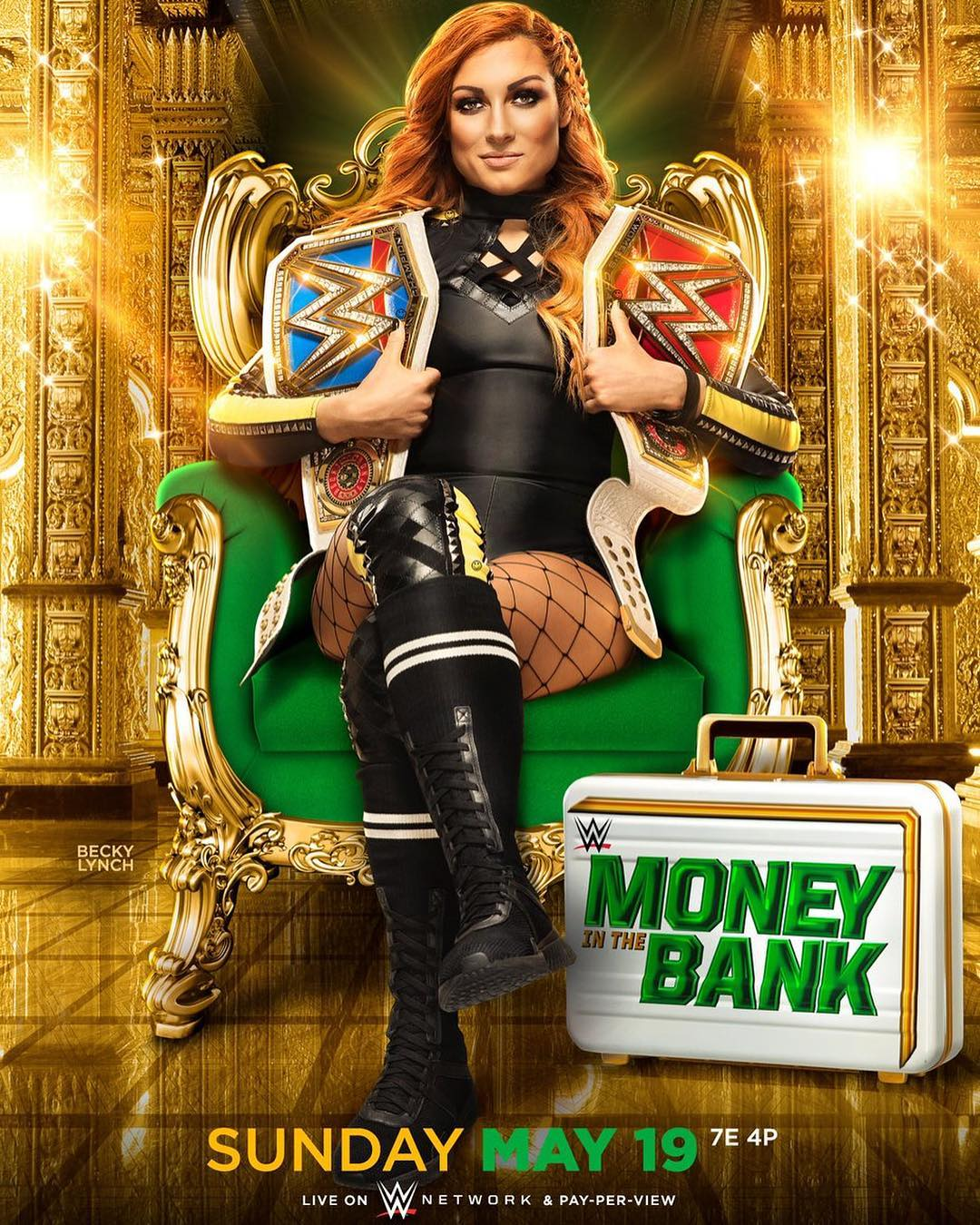 Becky Lynch Money in the Bank Póster