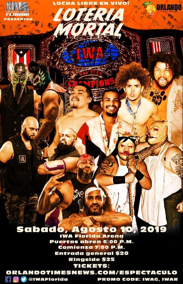 """""""El Asombroso"""" Angel Cotto entra a Loteria Mortal en IWA Florida 1"""