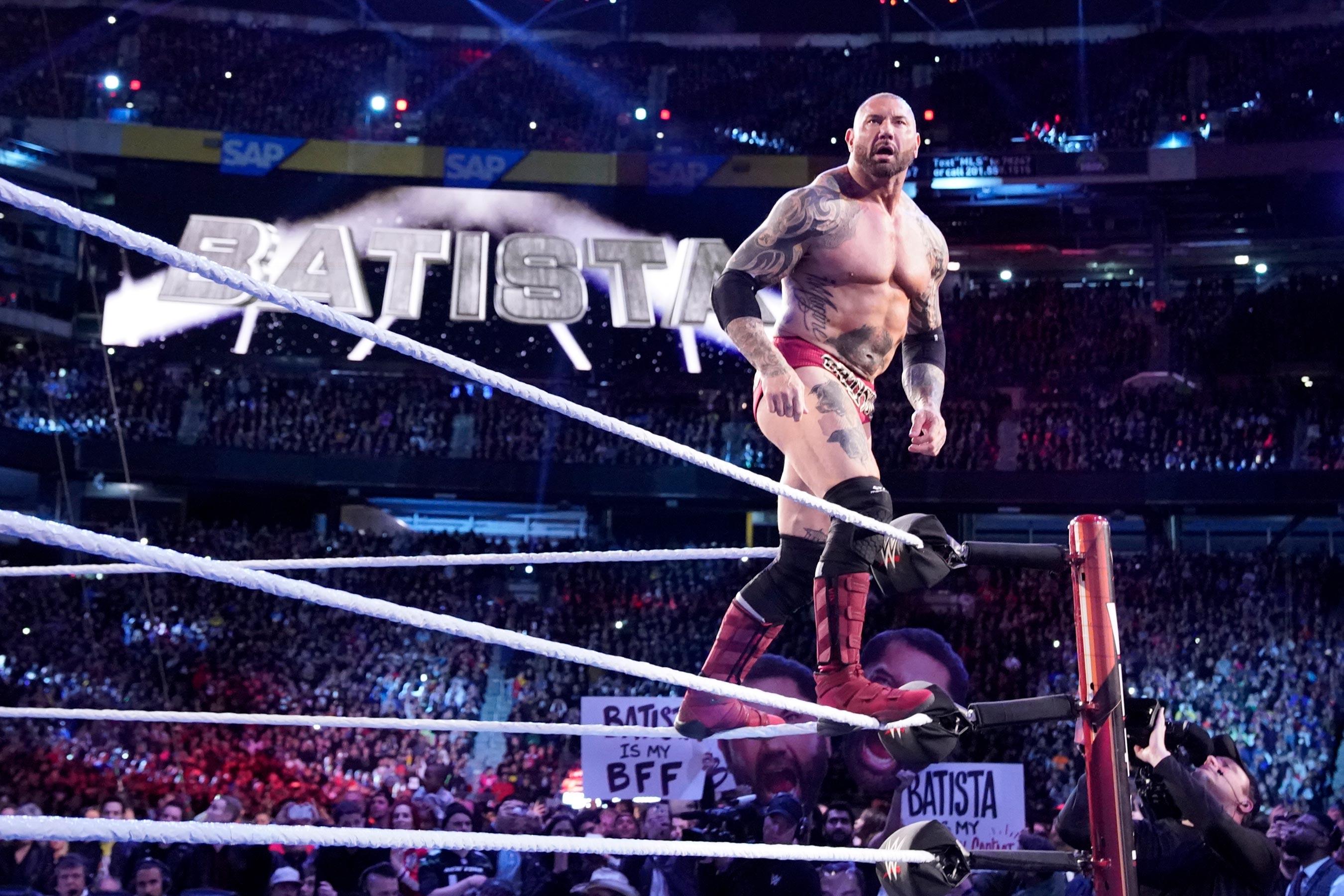 Batista en el Salón de la Fama WWE