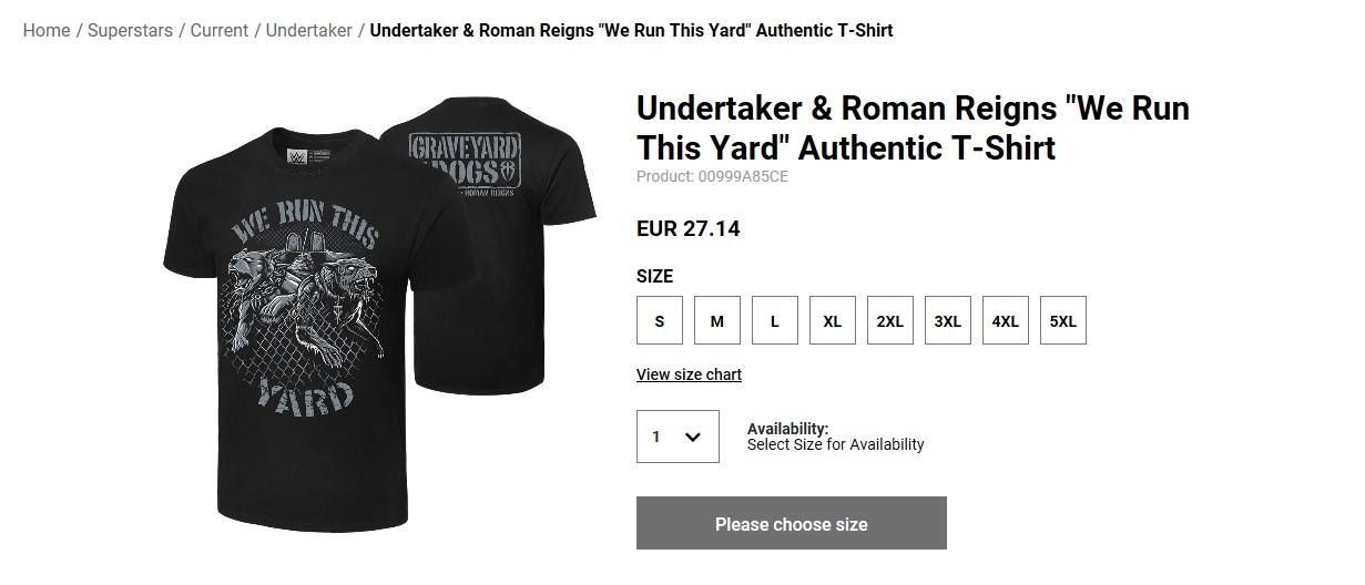 """WWE Shop lanza camiseta de Undertaker y Reigns: """"Graveyard Dogs"""" 1"""