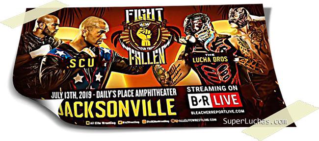 Resultados AEW FIGHT FOR THE FALLEN (13-07-19) | Young Bucks vs. Cody y Dustin 72