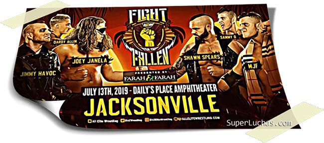 Resultados AEW FIGHT FOR THE FALLEN (13-07-19) | Young Bucks vs. Cody y Dustin 19
