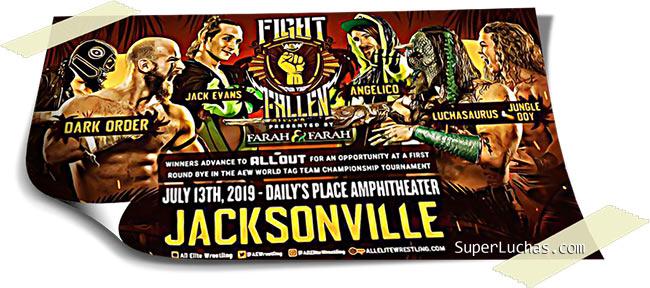 Resultados AEW FIGHT FOR THE FALLEN (13-07-19) | Young Bucks vs. Cody y Dustin 41