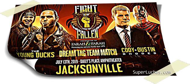 Resultados AEW FIGHT FOR THE FALLEN (13-07-19) | Young Bucks vs. Cody y Dustin 110