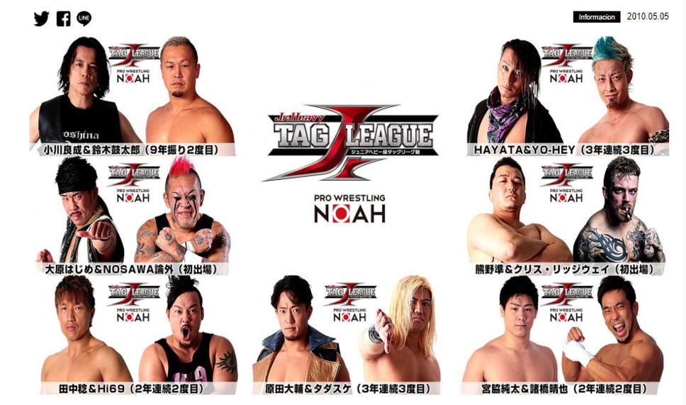 NOAH: Participantes y Calendario del Global Jr. Tag League 2019 21