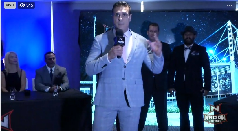 Alberto del Río presenta en conferencia de prensa a Nacion Lucha Libre 3