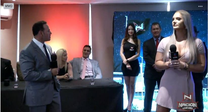 Alberto del Río presenta en conferencia de prensa a Nacion Lucha Libre 4