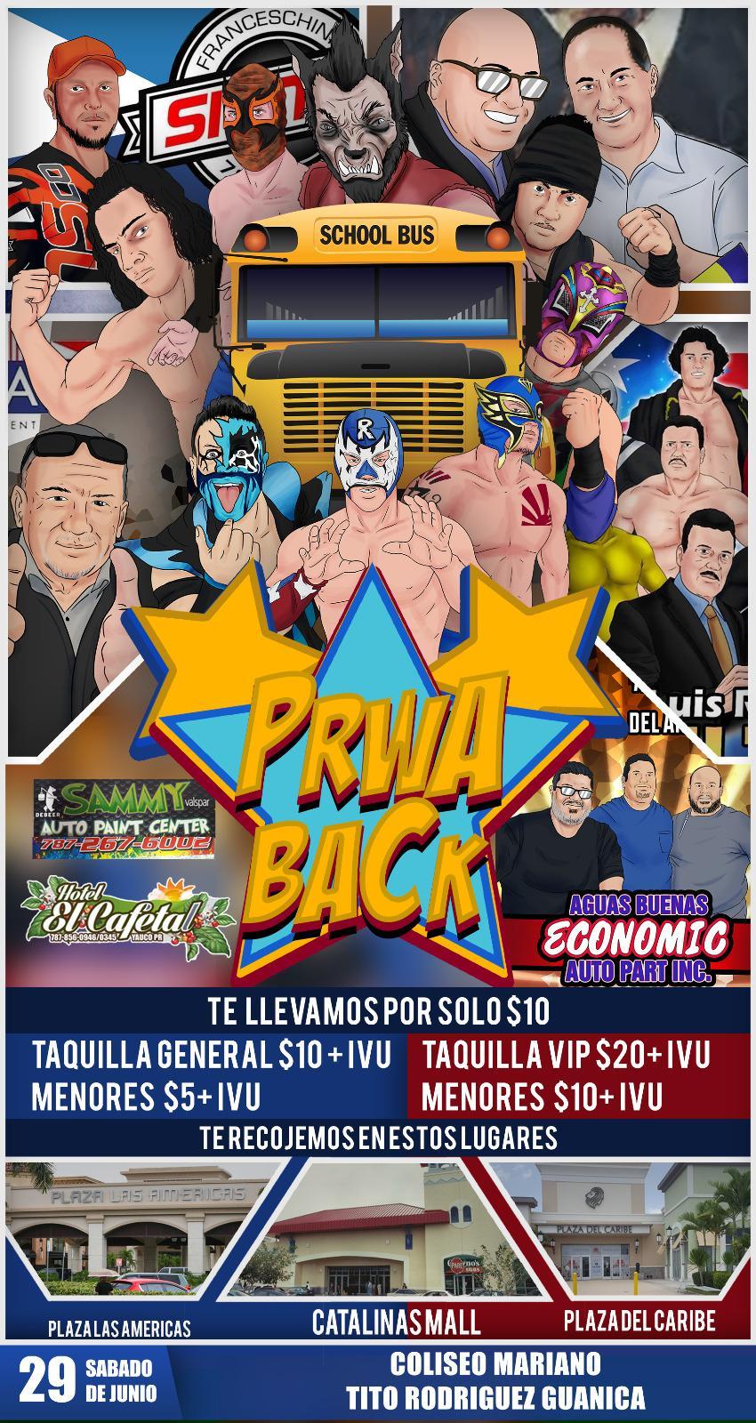 Cartel final PRWA BACK México vs Puerto Rico - Team México de visita 11