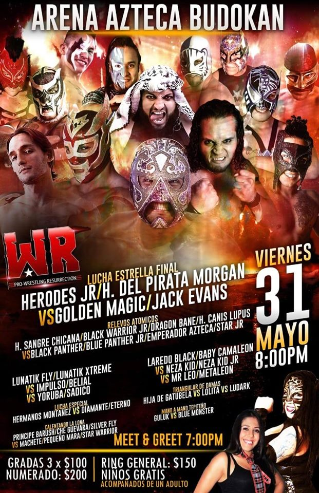 Pro Wrestling Resurrection llegará a la Arena Azteca Budokan 2