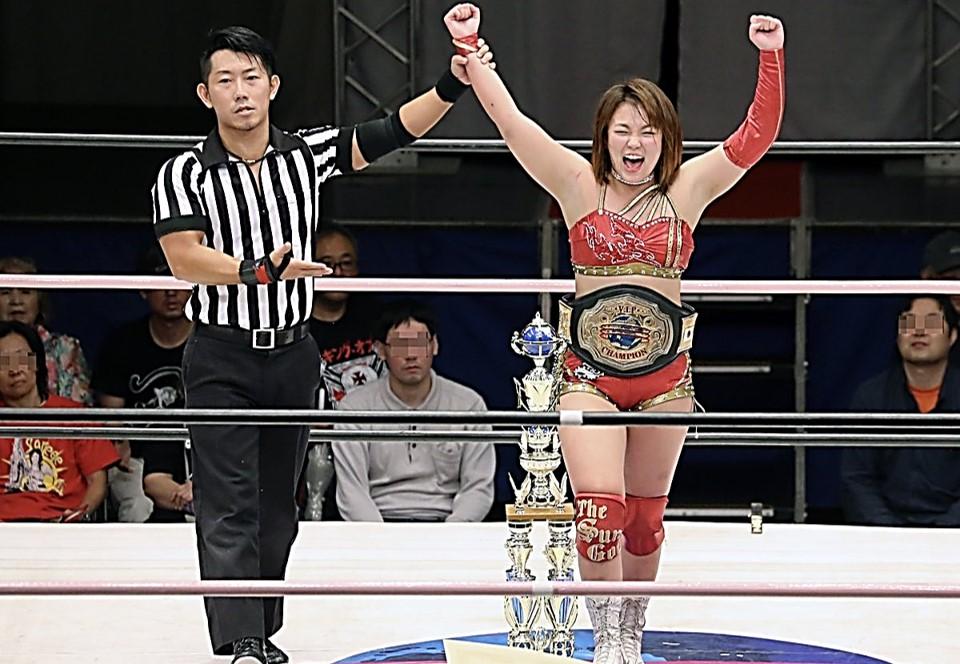 Sendai Girls: Sareee defiende su cinturón. 7