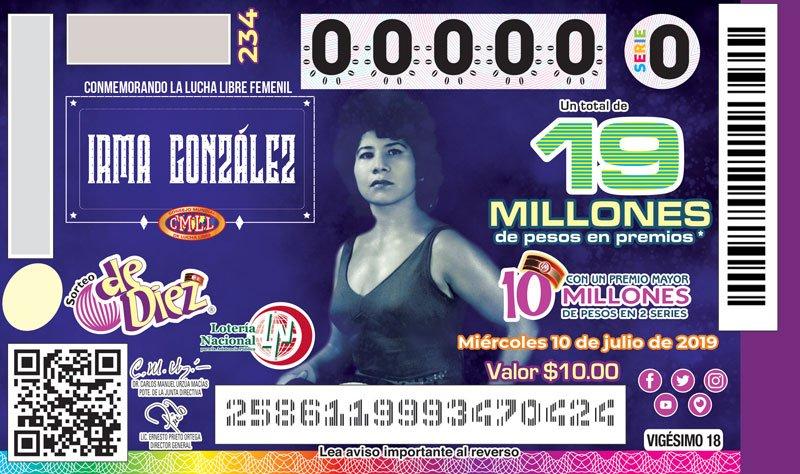 CMLL: Las Amazonas del Ring homenajeadas por la Lotería Nacional 1