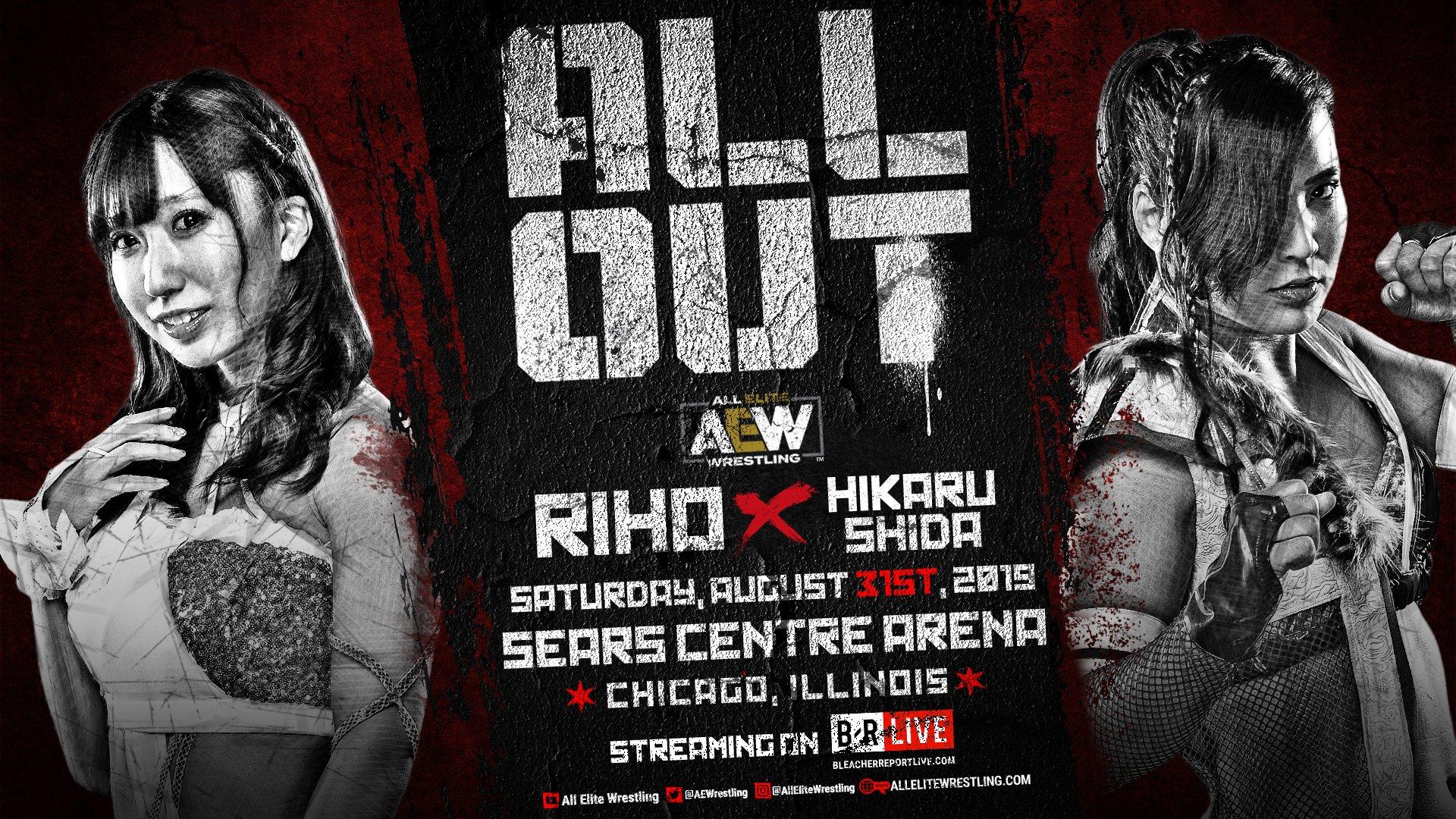Hikaru Shida vs Riho confirmado para AEW All Out
