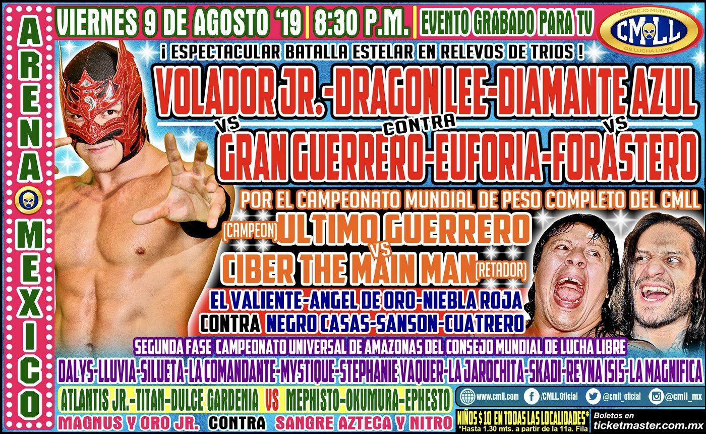 CMLL: Dalys, finalista al Campeonato Universal, Guerrero retiene 2