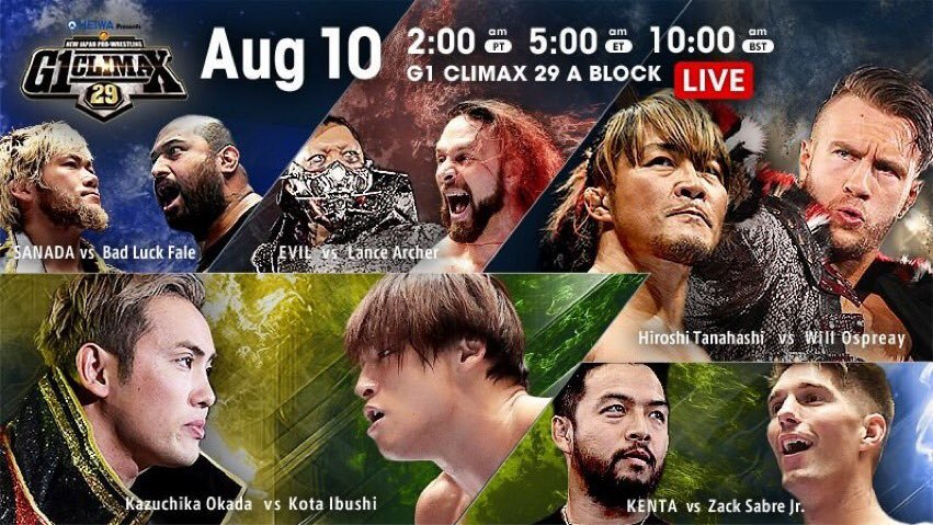 """NJPW: """"G1 Climax 29"""" Día 17 Kota Ibushi es finalista 2"""