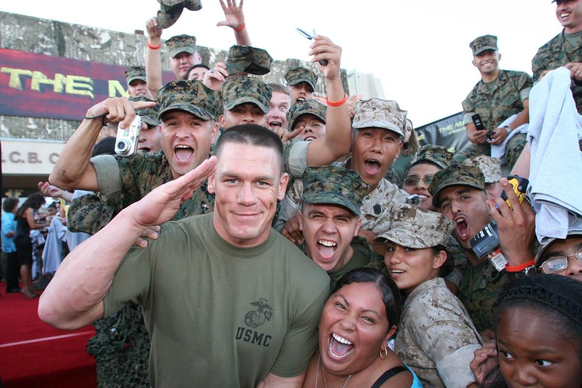John Cena en la premiere de su película The Marine en 2006