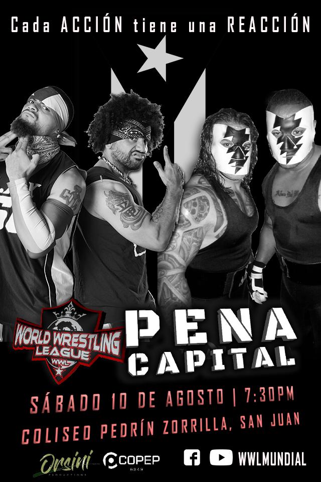 Cartel para Pena Capital este Sábado 10 en San Juan - ¡LAX de regreso a Puerto Rico! 2