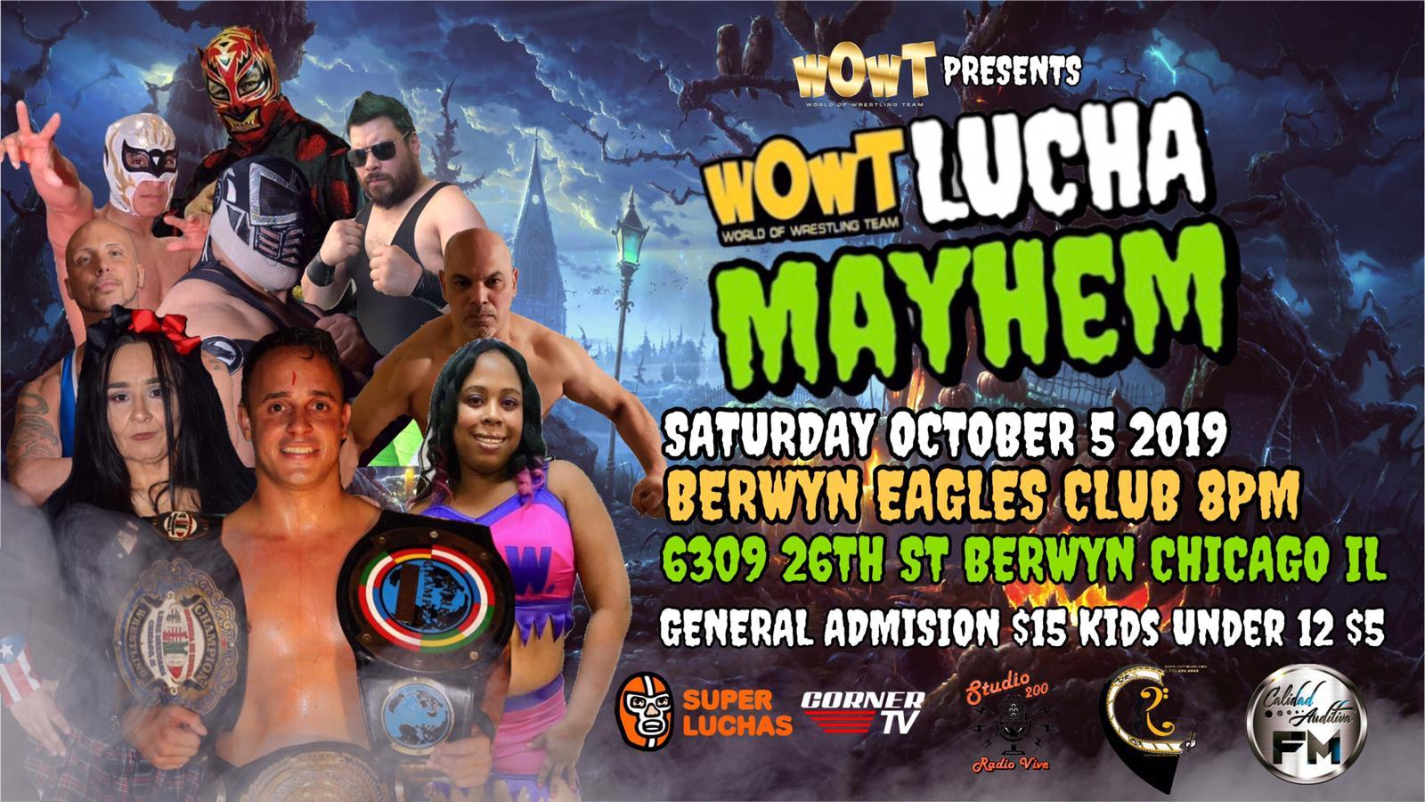 WOWT presenta Lucha Mayhem en el Berwyn Eagles Club en Chicago 1
