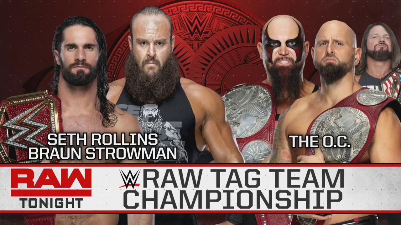 Seth Rollins y Braun Strowman NUEVOS Campeones de Parejas Raw 1