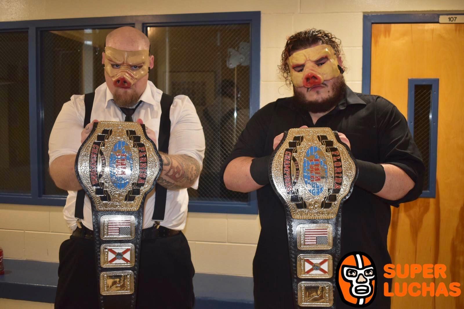 ¡The Pigs Nuevos Campeones de IWA Florida! 1