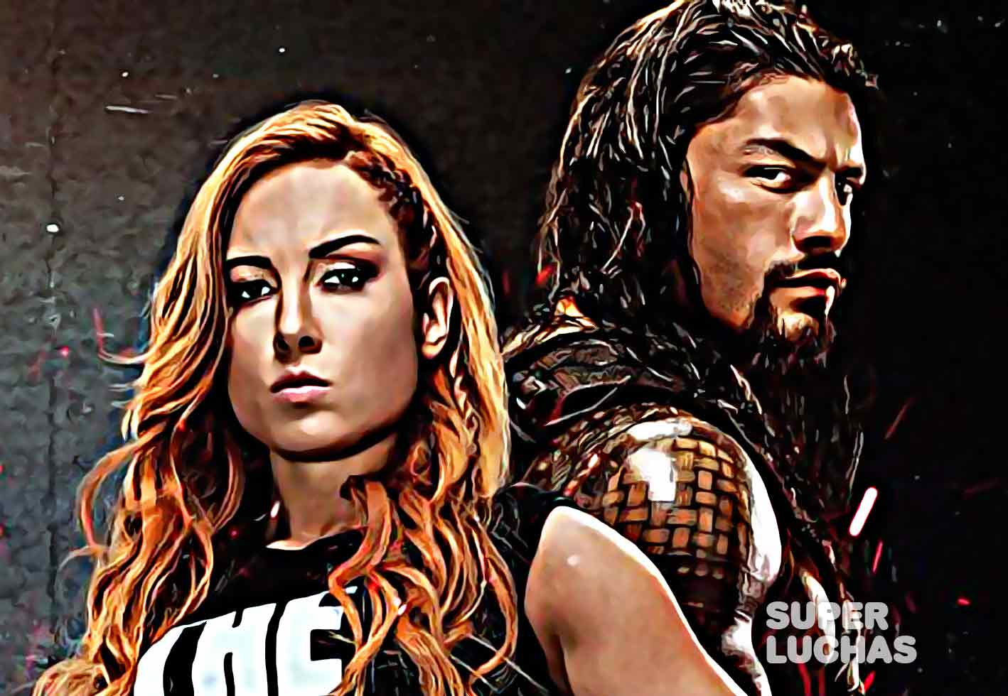 WWE 2K20 Becky Lynch Roman Reigns