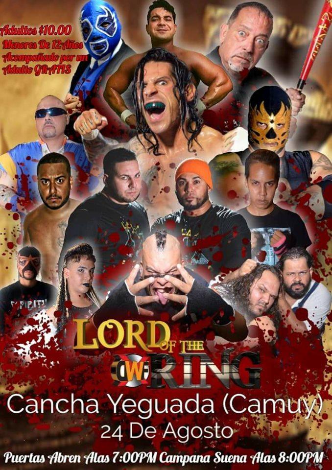 XDWF presenta Lord of the Ring el 24 de Agosto en Camuy - Savio Vega en Acción 1
