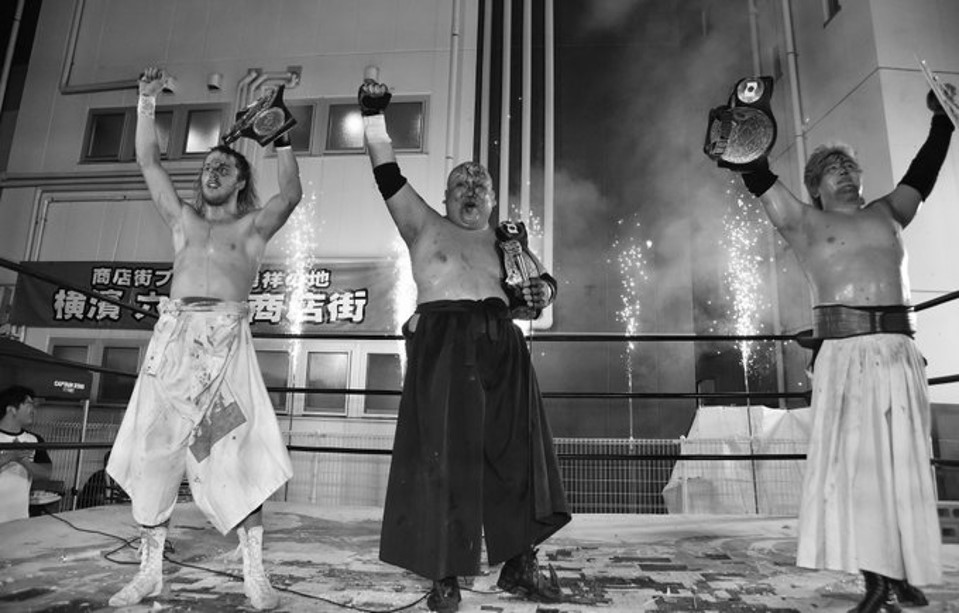 "BJW: ""Shopping Street Pro Wrestling"" Defensa del título de tercias 6"