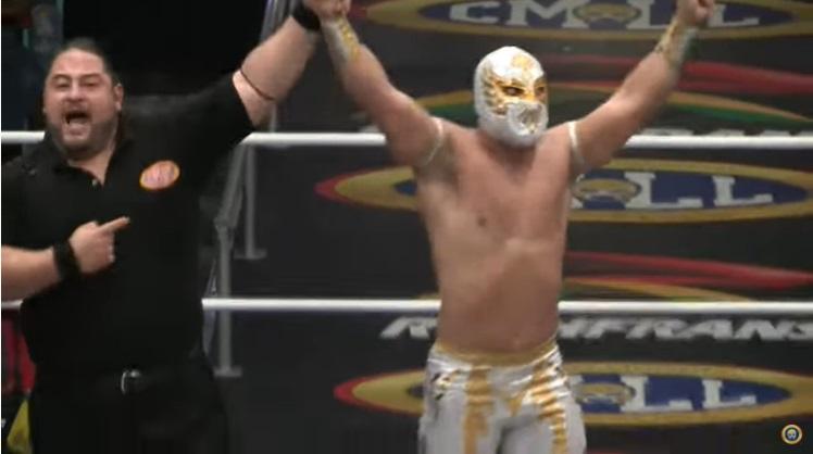CMLL: Carístico gana Torneo en Puebla y lo dedica a su finado padre 3