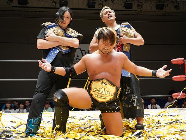 """2AW: """"Grand Slam in Korakuen Hall"""" Shu Asakawa se corona 1"""