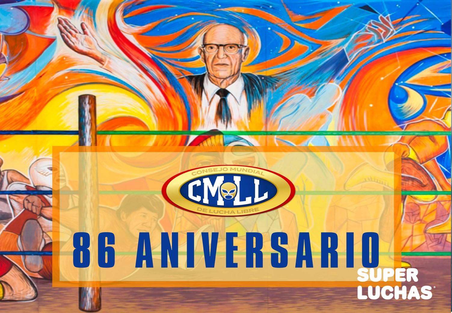 CMLL: Cartel Completo para la función del 86 Aniversario 5