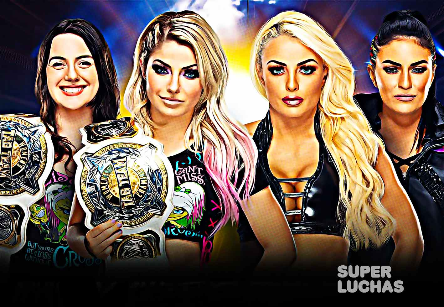Alexa Bliss y Nikki Cross vs. Mandy Rose y Sonya Deville