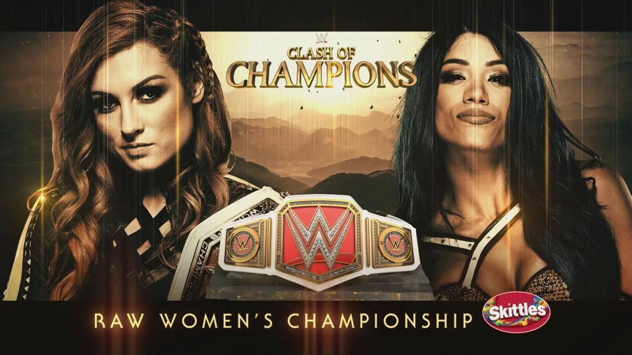 Becky Lynch vs. Sasha Banks por el Campeonato Raw en el PPV Clash of Champions 2019