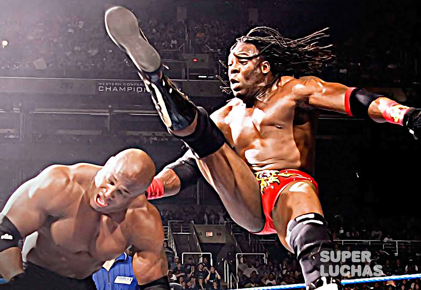 Booker T vs Bobby Lashley