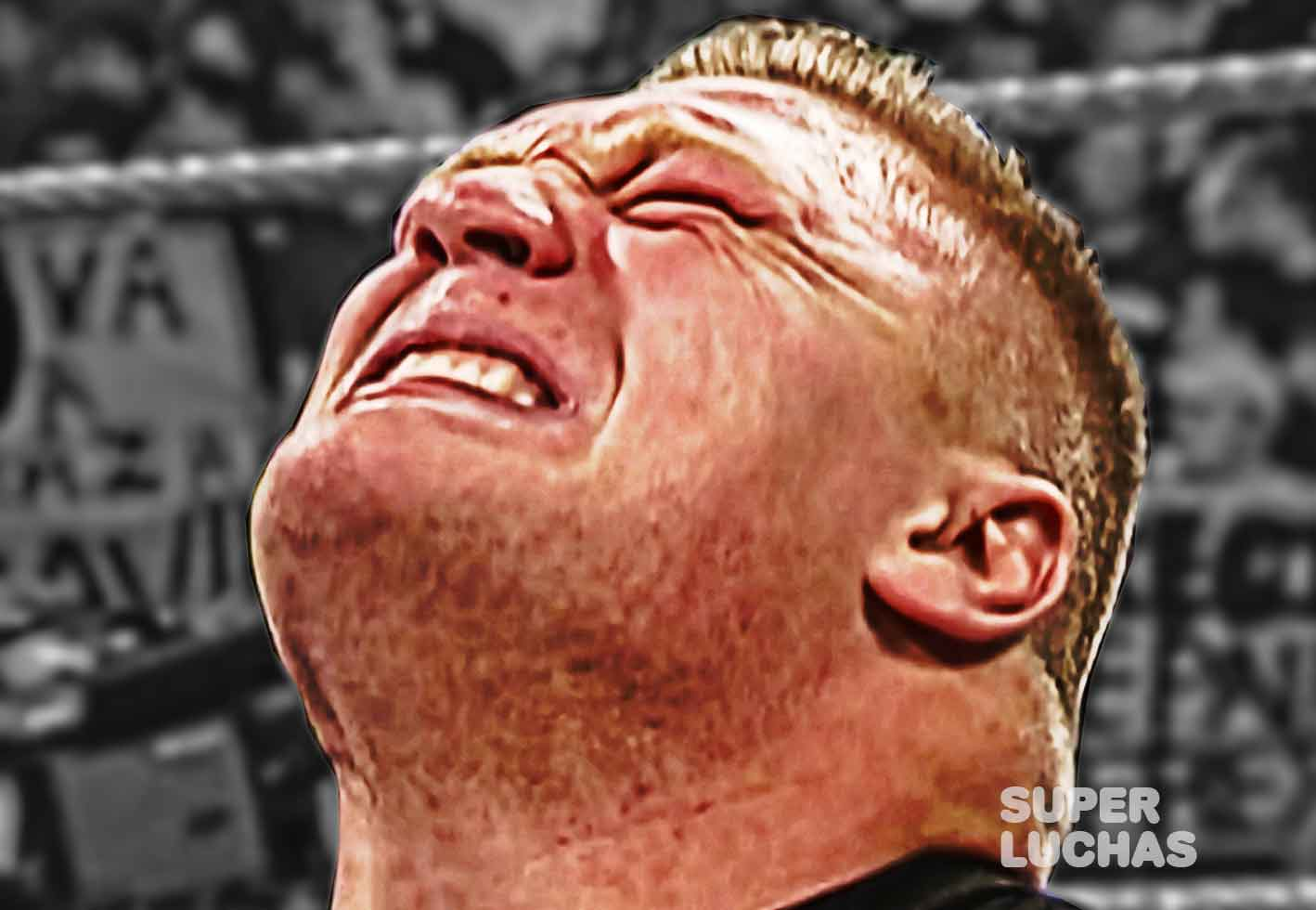 Brock Lesnar llorando