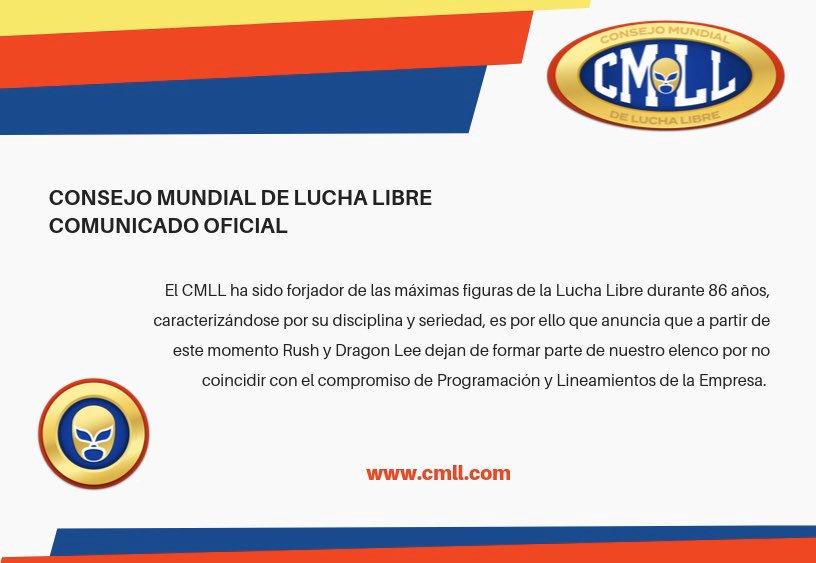 CMLL comunicado Rush