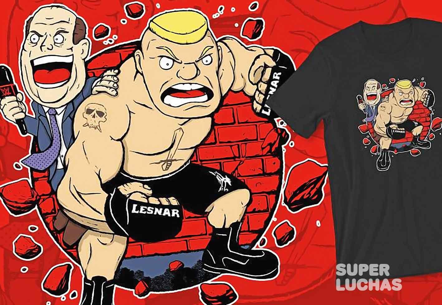 Camiseta de Brock Lesnar y Paul Heyman
