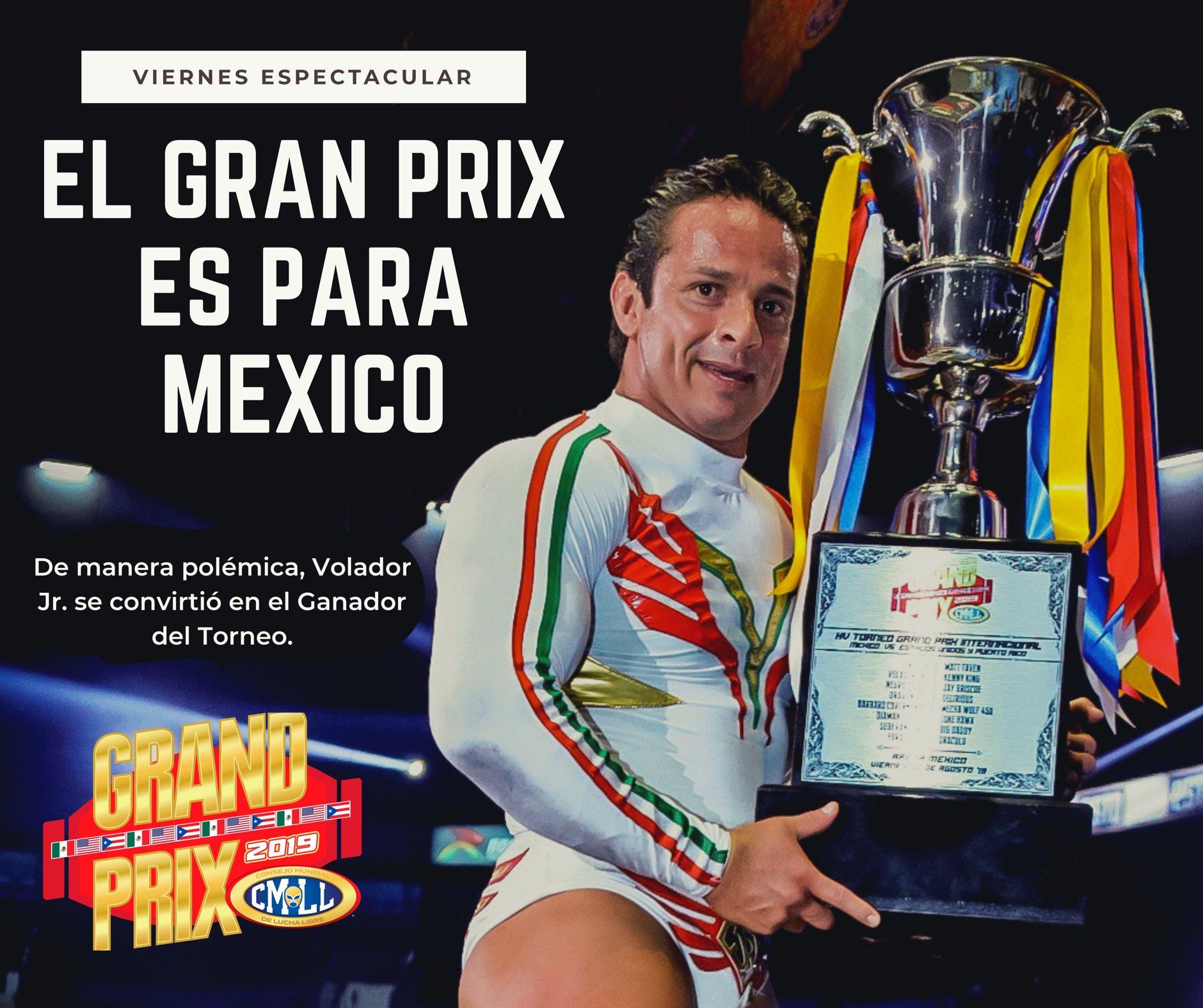 """CMLL: """"Grand Prix 2019"""" En polémico final gana Volador Jr. por México 4"""