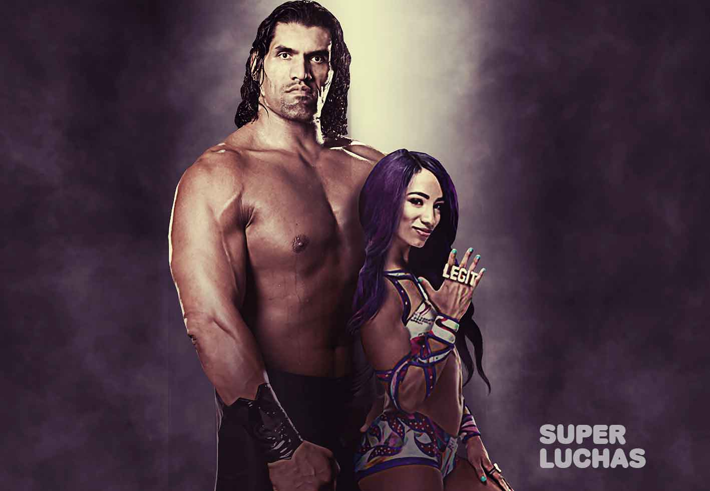 Great Khali y Sasha Banks