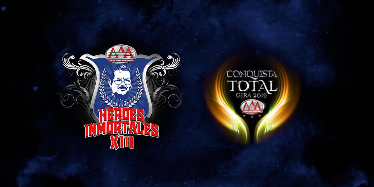 """AAA: Cartel """"Héroes Inmortales XIII"""" Fénix vs Kenny Omega 1"""