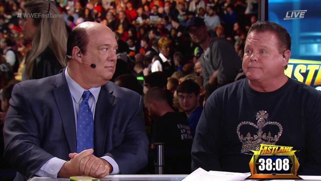 Paul Heyman y Jerry Lawler en Raw / WWE