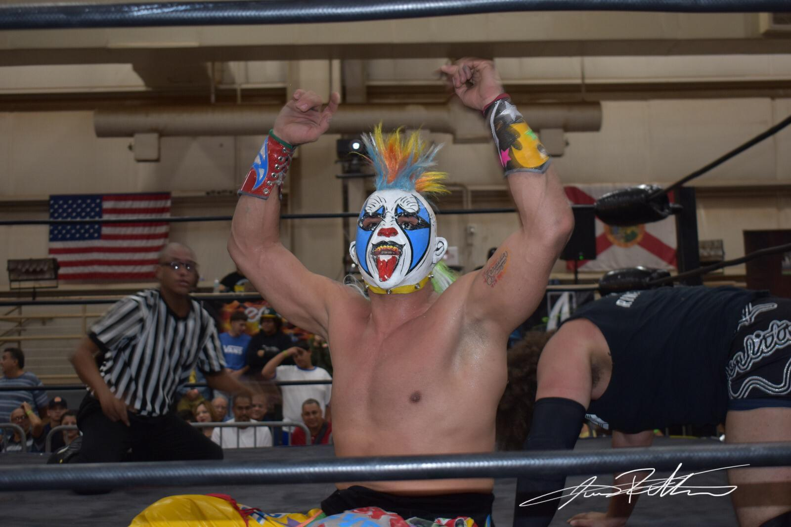 Resultados y Fotos NGCW Hostile TakeOver - Psycho Clown quiere lucha entre Carlito y Texano Jr por el Campeonato 1