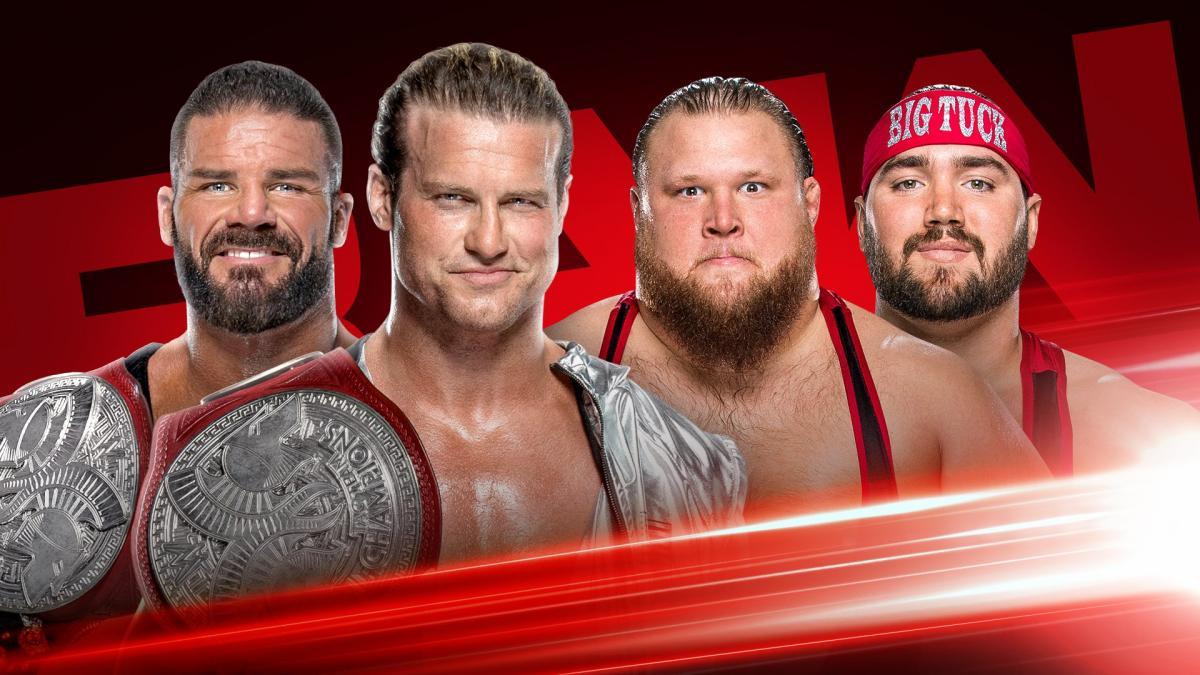 Robert Roode y Dolph Ziggler vs Heavy Machinery por el Campeonato de Parejas Raw el lunes 30 de septiembre de 2019