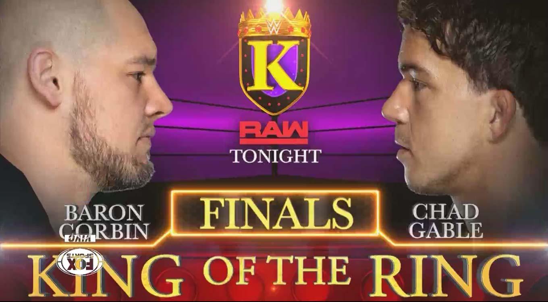 Baron Corbin es el King of the Ring 2019 WWE Raw 16 de septiembre 2019vvvvvvv