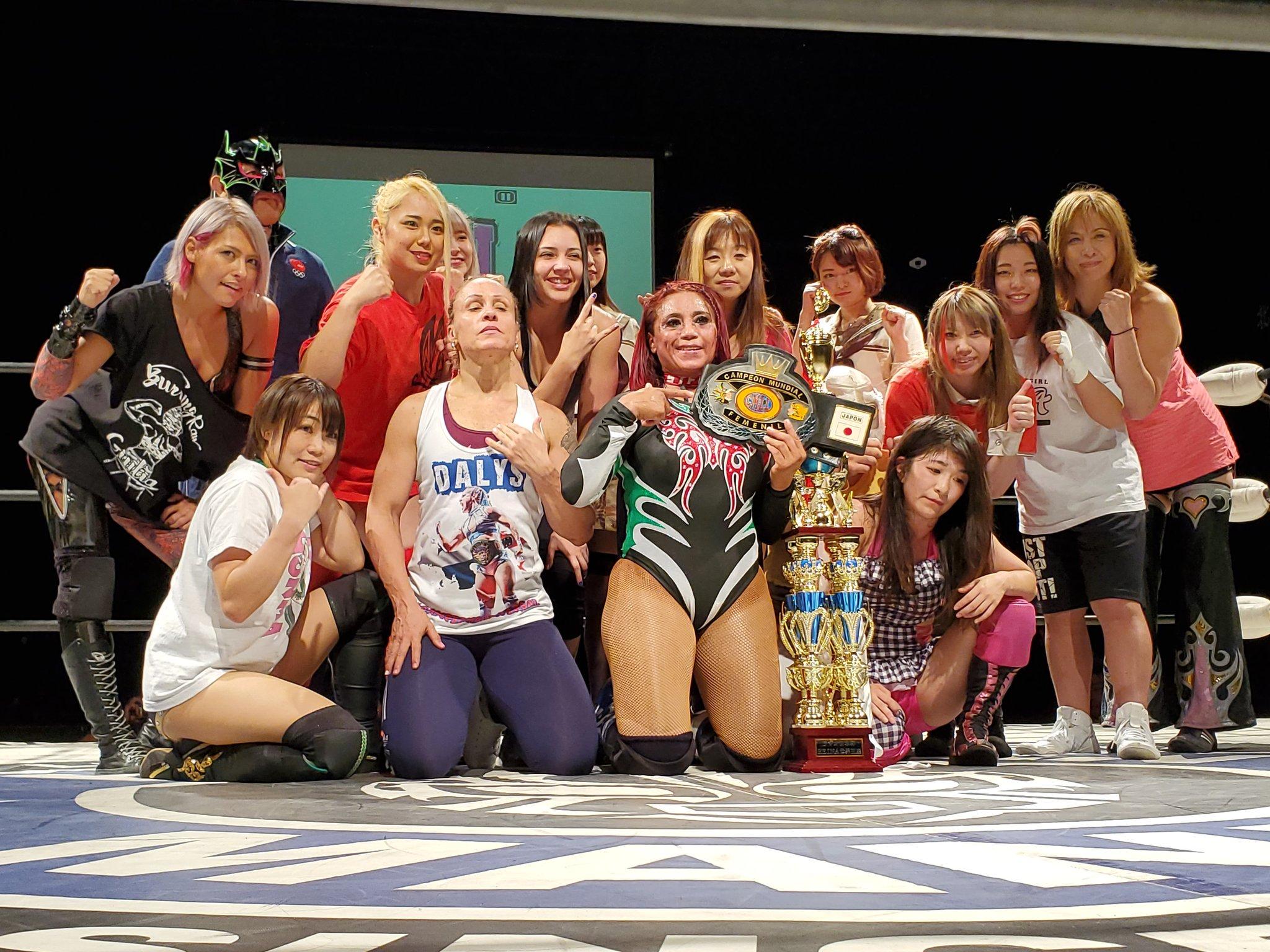 CMLL: Marcela defendió su cinturón en Japón 1