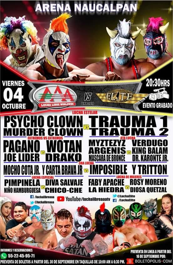 AAA / Elite: La zona de guerra se traslada a la Arena Naucalpan 2