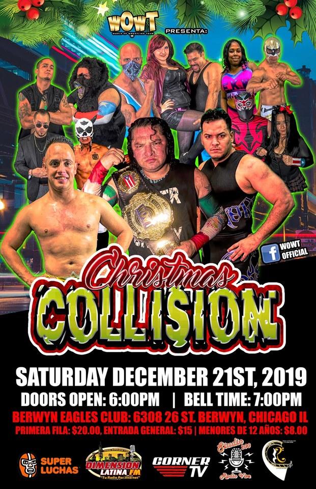 WOWT Presenta Christmas Collision - Super Crazy defiende el Campeonato en Chicago 1