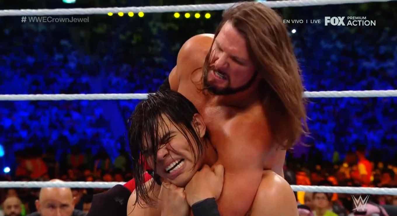WWE CROWN JEWEL (31 de octubre 2019)   Brock Lesnar vs. Caín Velásquez 50