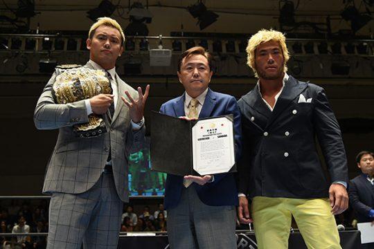 NJPW: Okada y SANADA firman contrato para KOPW 2019 2