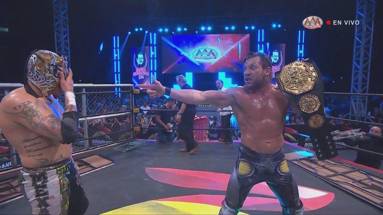 Kenny Omega es el NUEVO Megacampeón AAA en Héroes Inmortales 2019